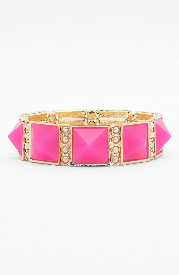 Stephan & Co Pyramid & Pearls Bracelet
