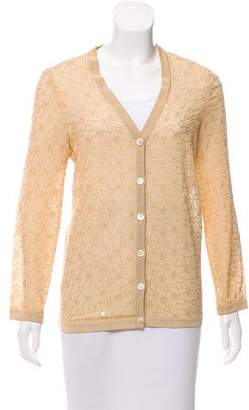 Salvatore Ferragamo Embellished Long Sleeve Cardigan