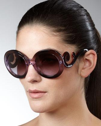 Prada Baroque Sunglasses, Violet/Pink