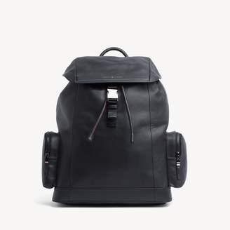 Tommy Hilfiger Leather Flap Backpack
