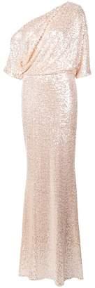 Badgley Mischka off shoulder sparkle gown