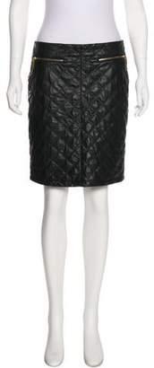 Carmen Marc Valvo Quilted Mini Skirt