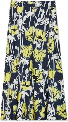 Tory Burch Printed Jersey Skirt