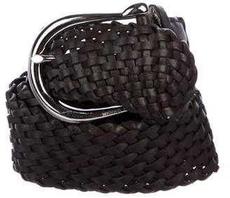 MICHAEL Michael Kors Leather Woven Belt