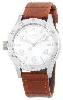 Nixon 38-20 Leather Stainless Steel Quartz Strap Watch