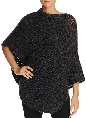 Eileen Fisher Asymmetric Ribbed Poncho $298 thestylecure.com