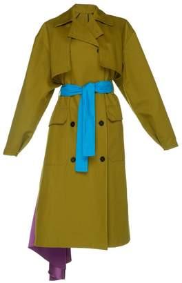 MSGM Cappotto Khaki Trench Coat