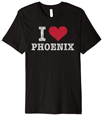 Distressed Retro I Love Phoenix T Shirt Souvenir