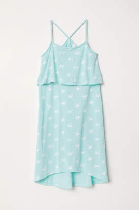 H&M Dress with Braided Straps - Turquoise
