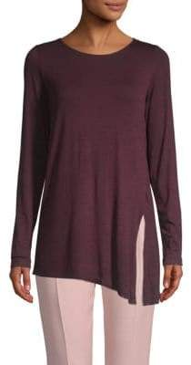 Max Studio Asymmetrical Long-Sleeve Top
