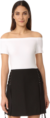 KENDALL + KYLIE Off Shoulder Bodysuit $85 thestylecure.com