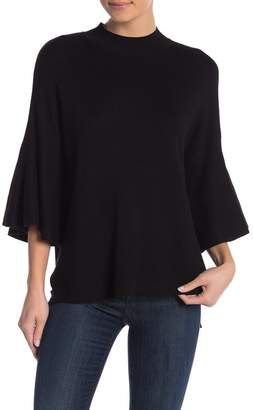 Blvd Mock Neck Bell Sleeve Sweater