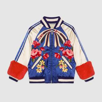 Gucci Children's embroidered bomber jacket