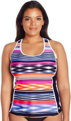ZeroXposur Women's Plus Size Echo Sporty Swimsuit Tankini Top
