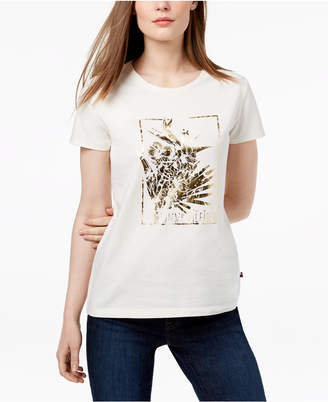Tommy Hilfiger Metallic-Graphic T-Shirt, Created for Macy's