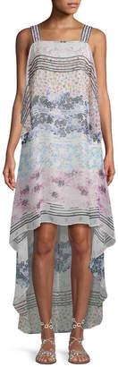 BCBGMAXAZRIA Floral High-Low Dress