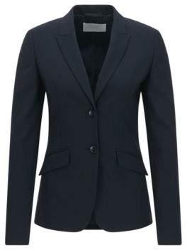 BOSS Hugo Wool Jacket Julea 0 Open Blue