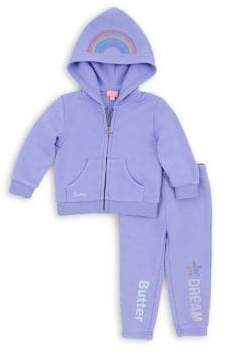 Butter Shoes Baby Girl's& Little Girl's Two-Piece Dream Unicorn Hoodie& Pants Set