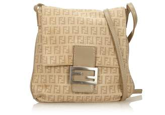Fendi Vintage Zucchino Canvas Crossbody Bag