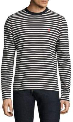Ami Striped Cotton Tee