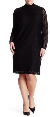 London Times Medieval Tile Lace Shift Dress (Plus Size) $128 thestylecure.com