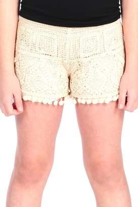Vintage Havana Crochet Pompom Shorts