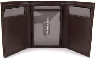 Van Heusen Men's RFID-Blocking Smooth Leather Trifold Wallet