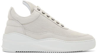 Filling Pieces Off-White Low Sky Sneakers