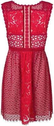Moschino floral lace embellished dress