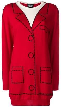 Moschino illusion knit shirt-dress