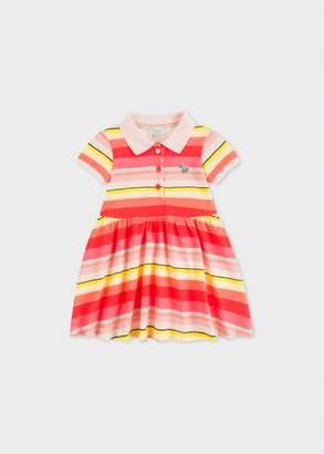 Paul Smith Baby Girls' Multi-Coloured Stripe Polo-Dress