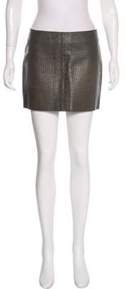 Alexander Wang Embossed Leather Skirt Embossed Leather Skirt