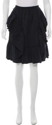 See by Chloe Ruffle Accented Knee-Length Skirt w/ Tags