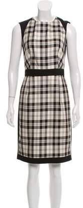 Bill Blass Sleeveless Plaid Dress Black Sleeveless Plaid Dress
