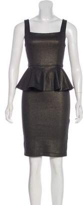 Alice + Olivia Sleeveless Peplum Dress