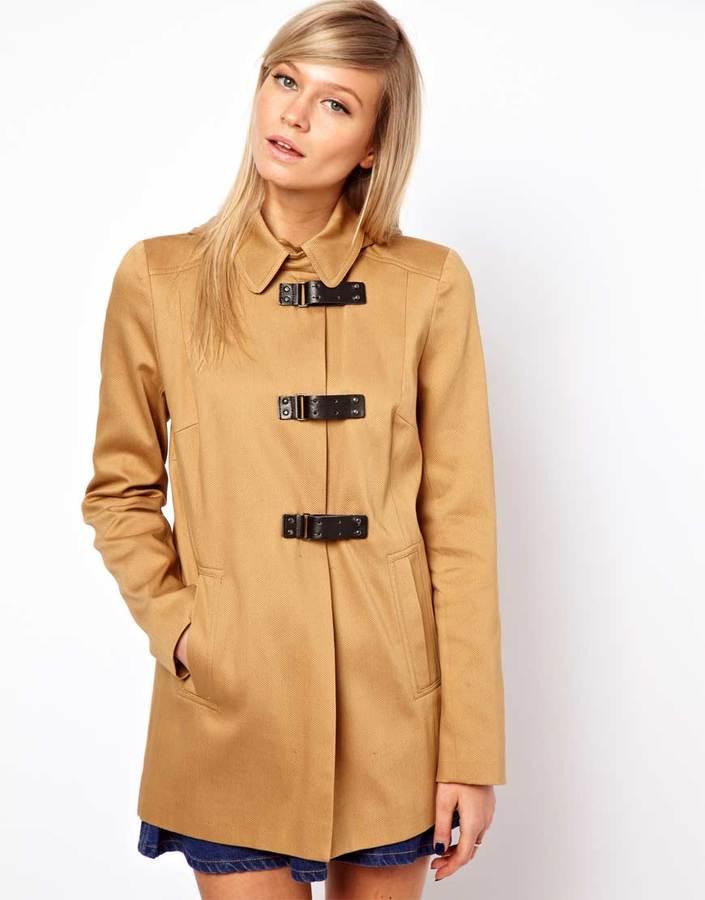 Asos Duffle Coat With PU Clasp