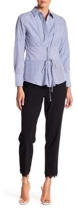 New York Collective Lilja Lace Trim Capri Pants