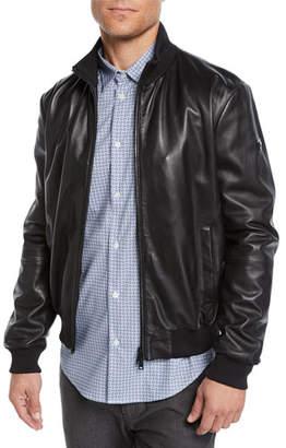 Emporio Armani Men's Napa Leather Bomber Jacket