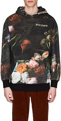 Palm Angels Men's Floral Cotton Hoodie