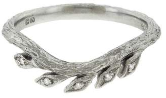 Cathy Waterman Curved Wheat Band - Platinum