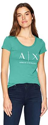 Armani Exchange A|X Women's Scoop Logo Tee