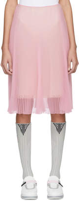 Prada Pink Pleated Chiffon Skirt
