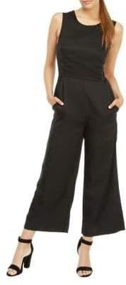 Dex Lace-Up Back Culotte Jumpsuit