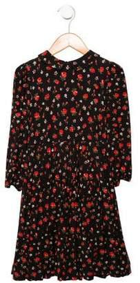 Dolce & Gabbana Girls' Pleated Floral Dress