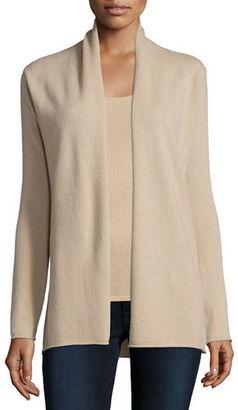 Neiman Marcus Cashmere Collection Cashmere Draped Cardigan $275 thestylecure.com