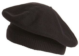 Women's Kate Spade New York Contrast Bow Beret - Black $48 thestylecure.com