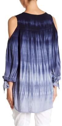 XCVI Hadley Tie-Dye Cold Shoulder Blouse