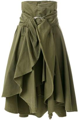 Faith Connexion asymmetric ruffle skirt