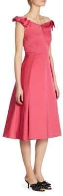 Prada Radzmire Bow-Detail Wool& Silk Portrait Sheath Dress