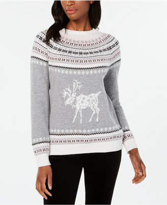 Tommy Hilfiger Fair Isle Reindeer-Pattern Sweater, Created for Macy's